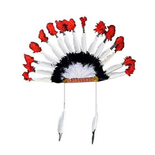 1pcs / set accesorios de cosplay de accin de gracias tocado de plumas tocado indio cacique sombreros
