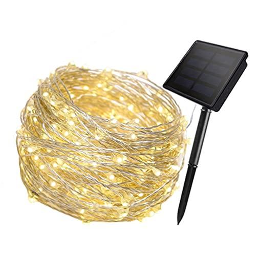 STOBOK 50LED 2Pcs Luzes Da Corda Solar Ao Ar Livre Solar Powered Luzes De Fadas Decorativas Luzes Do Dia Das Bruxas Luzes De Fio De Cobre para O Jardim Do Pátio Quintal
