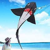 Kyman Los niños Kite Kite, niños Cometa Cometas for niños fácil de Volar al Aire Libre con el tamaño Grande de tiburón Breeze (Color: 195x370cm) (Color : 140x240cm)
