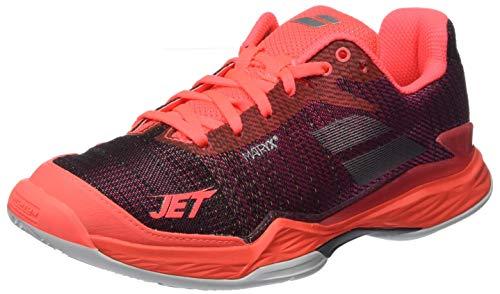 Babolat Jet Mach II Clay Sandplatzschuh Damen-Rot, Schwarz, Zapatillas de Tenis para Mujer, Negro Rosa 976, 37 EU