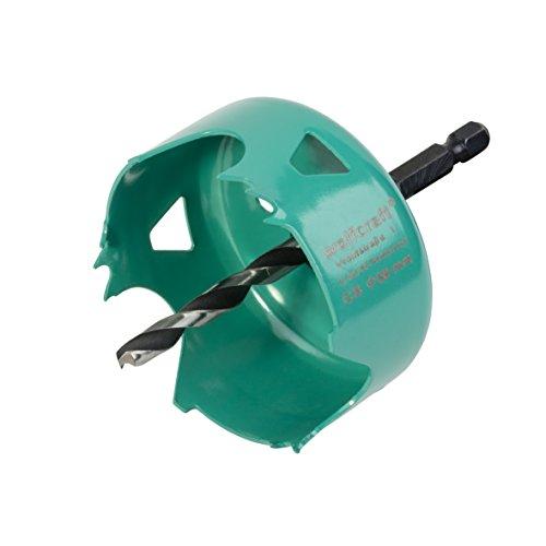 Wolfcraft 5968000 Carbonstahl-Lochsäge Ø 68 mm, grün