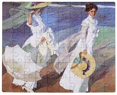 Tlmydd Joaquin Sorolla Mujeres Caminando En La Playa Fine Art Jigsaw Puzzle 1000 Piezas Para Adultos, Entretenimiento DIY Juguetes Para Regalo Creativo Decoración Para El Hogar Día de San Valentín pre