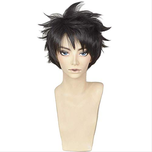 Anime Free! -Dive to the Future Sosuke Yamazaki Wig Cosplay Brown Black Mix Short peluca de pelo sintético resistente al calor + gorra de peluca
