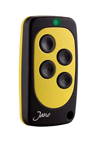 Jane V Multifrequentie, universele afstandsbediening met vaste code 4 tasti Zwart-geel