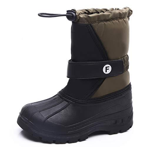 HMIYA Kinder Winterstiefel Jungen Mädchen Schneestiefel Warm Gefütterte Winterschuhe Snowboots Wasserdicht Stiefel Winter Outdoor(Grün,29)
