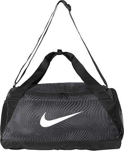 Nike Brasilia Graphic Trainingstasche (klein), Black/White, S