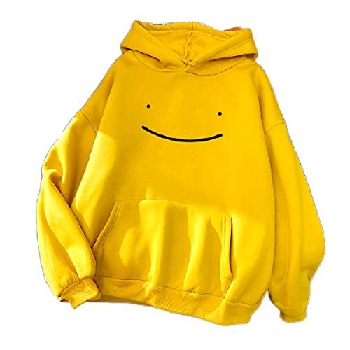 Eogrokerr Sudadera con capucha para mujer con diseño de rana, de invierno, con capucha, de manga larga, para mujer, Z1-amarillo., 3XL