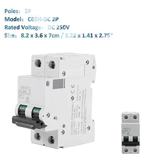Leitungsschutzschalter,Acogedor Niederspannungs Miniatur Leistungsschalter,für Sonnenkollektorrastersystem, Wind- und Sonnenhybridsystem und viele anderen DC-Systeme,250V DC 2P,16A / 32A / 63A(63A)