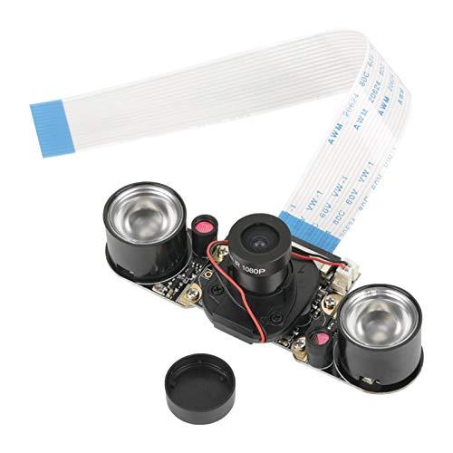 Asixxsix Módulo de cámara, Placa de módulo de cámara, Interruptor Manual de 5 Millones de píxeles para Pantalla de visualización Raspberry Pi B 3/2
