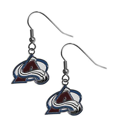 NHL Siskiyou Sports Womens Colorado Avalanche Chrome Dangle Earrings One Size Team Colors