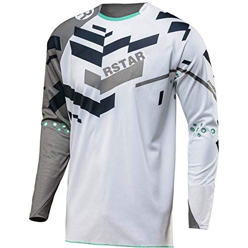 Rstar Dirt Bike Jersey Motocross Long Sleeve Cycling Shirt Men BMX Mx Racing Shirt Motorcycle Enduro Jersey White