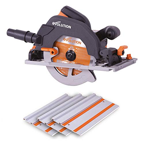Evolution Power Tools R185CCSX multifunctionele cirkelzaag compatibel met geleiderails (combi pakket 1020 mm rail inbegrepen, 185 mm, 230 V)