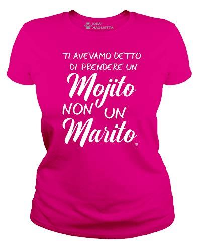 IDEAMAGLIETTA AN0002 Maglietta Addio al Nubilato (S, Fuxia)