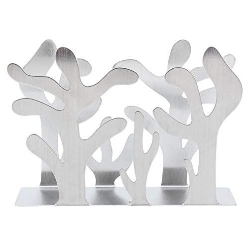 POMU natte doekjes doos Tissue Box roestvrij staal planten vorm Tissue Dispenser servet rack tafel papier rack toiletpapier houder