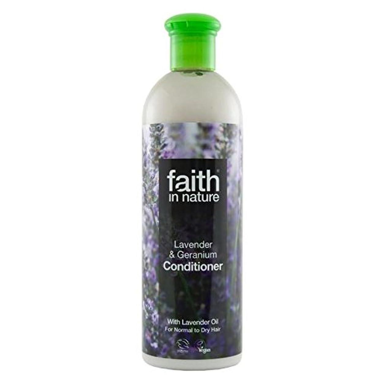 方向エンコミウム断片Faith in Nature Lavender & Geranium Conditioner 400ml (Pack of 4) - (Faith In Nature) 自然ラベンダー&ゼラニウムコンディショナー400ミリリットルの信仰 (x4) [並行輸入品]