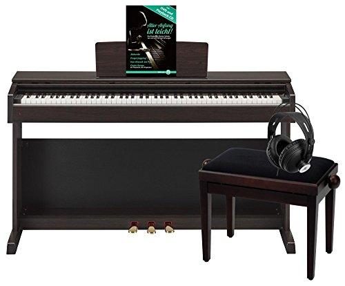 Yamaha YDP-143R Arius E-Piano Deluxe Set (inkl. Pianobank, Kopfhörer und Notenheft mit Übungs-DVD und Playback-CD), Rosenholz