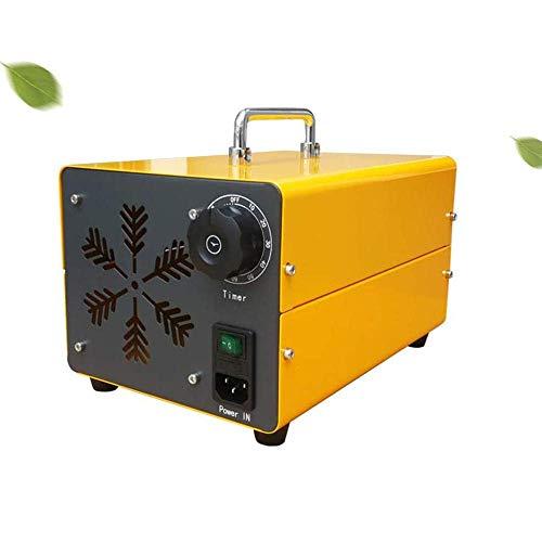 MOSHANG Purificador de Aire portátil, hogar 20000mg Generador de ozono Comercial Industrial O3 Ozono Purificador de Aire para el hogar, Oficina, Hotel, Restaurante (Amarillo)