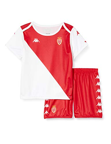 Kappa Kombat Baby Kit Home Monaco Maillots Enfant Blanc/Rouge FR : Taille Unique (Taille Fabricant : 24M)