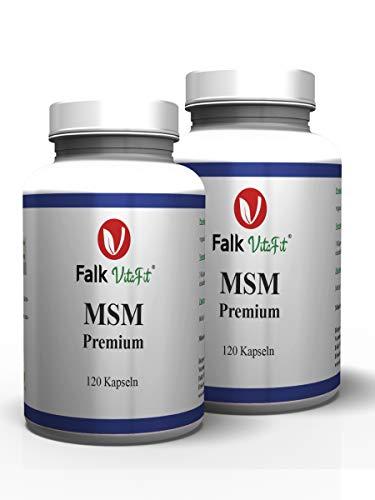 Falk VitaFit MSM Premium | Kristalle aus organischem Schwefel I 1600mg Tagesdosis I Naturprodukt mit 99,9% Reinheit I 240 Kapseln