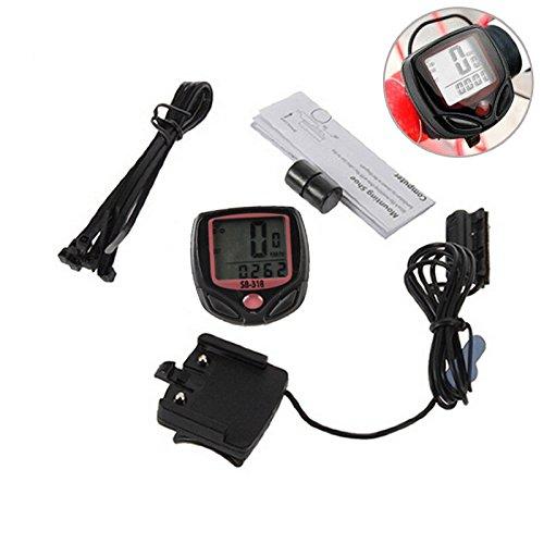 自転車スピードメーター 防水 多機能 LCD走行距離計速度計 サイクルコンピューター 自転車 速度 距離 時計