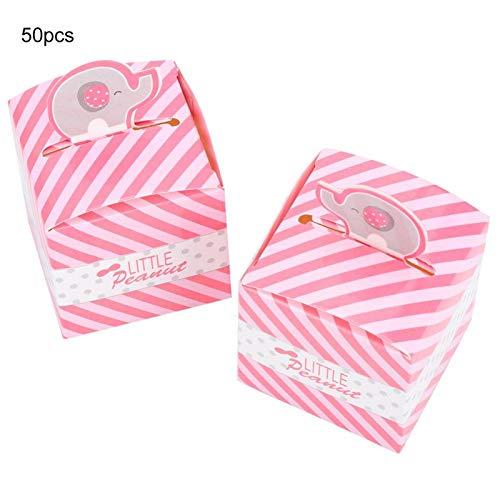 DAUERHAFT Embalaje de Cajas de cumpleaños de 50 Piezas para Boda(Pink)