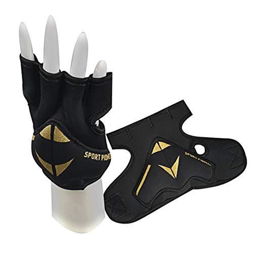 Yius 1 par de guantes de levantamiento de pesas (2 libras), guantes de entrenamiento de gimnasio para hombres y mujeres con soporte de muñeca, ideal para levantar, entrenar, culturismo, ciclismo