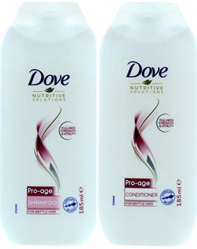 DOVE Pro Age Champú + Acondicionador 185 ml cada uno para cabello seco Brittle
