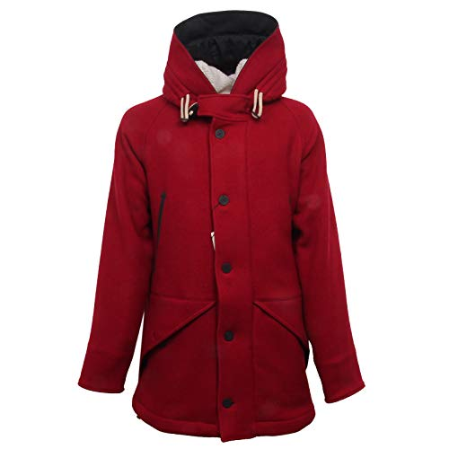 CAMPLIN F8256 Giaccone Uomo Artic Parka red Wool Jacke Man [50]