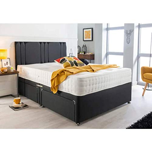 Brayden Studio Medium Tufted Coil-sprung Divan Bed (Super King (6'), 4 Drawers)