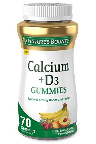 Calcium & Vitamin D Gummies by Nature's Bounty, Immune Support & Bone Health, 500mg Calcium & 1000 IU Vitamin D3, Fruit Flavor, 70 Count