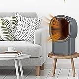 DUCUT Calefactor de aire caliente, ventilador eléctrico, diseño de reducción de ruido, calefacción autocontrolada con temperatura constante para estudio de espacio, portátil