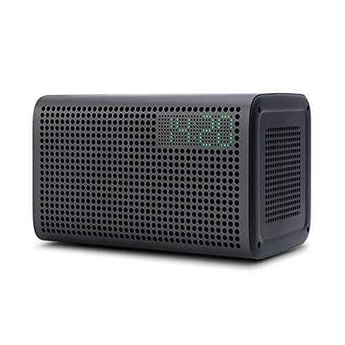 QPLKL Altavoces Bluetooth Altavoz Bluetooth WiFi Speaker inalámbrico Bluetoth Alexa Soporte de Altavoz DLNA con Reloj Despertador Amplificación de Sonido (Color : Black)
