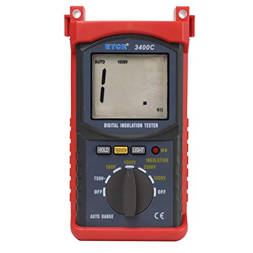 HEQIE-YONGP Tragbare Scientific Products ETCR3400C High Voltage 5KV Isolationswiderstand Tester Meter Megohmmeter 3{862f1a28171e71823a7b6d41cb08e67fa17138e529f0d6dbf47ad5fccb9d7147} * RDG + 5dgt Resistance Tester