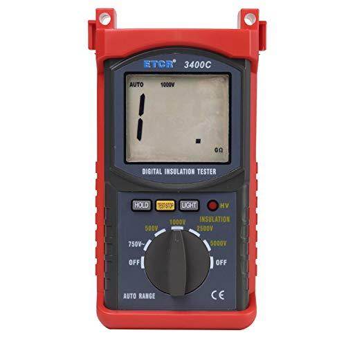 HEQIE-YONGP Tragbare Scientific Products ETCR3400C High Voltage 5KV Isolationswiderstand Tester Meter Megohmmeter 3% * RDG + 5dgt Resistance Tester