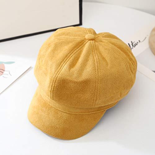 WAZHX Sombrero Octogonal De Boina con Bordes De Algodón Lavado Sombrero De Pintor De Todo Fósforo De Moda Japonesa Sombrero De Belle Retro Británico para Hombres Y Mujeres Talla Única 1