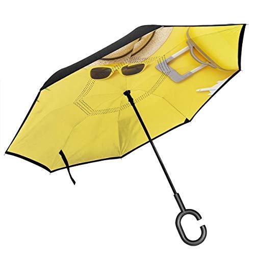Jojoshop - Funda plana para maleta, color amarillo, con mango en forma...