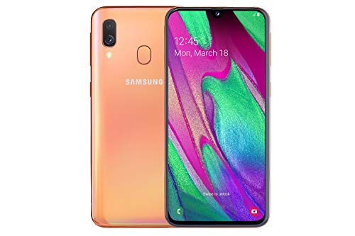 Samsung Galaxy A40 64 GB Android Dual-SIM 5.9 Inch Smartphone - Coral (UK Version)