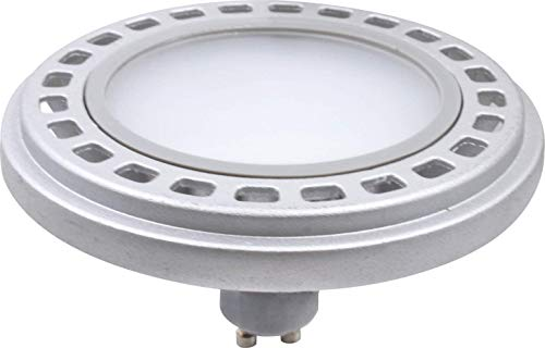 Qpar111 LED Leuchtmittel GU10 Sockel, 12W 3000K /4000K Abstrahlwinkel 45°/120° Roncalli 111 Durchmesser ersetzt 90W Halogen (4000K Dimmbar 120° - 6359)