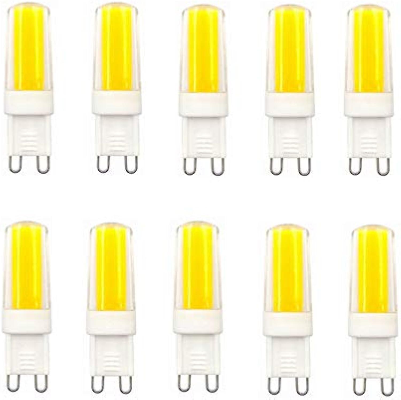 G9 LED-Glühlampen mit Keramik-Sockel, 3W (W0W Halogen-quivalent), 260LM, 3000K, 6000K G9-Sockel, dimmbare AC100-130V G9-Glühlampen für Wohnraumbeleuchtung, 10-Pack (Farbe   Warmwei)
