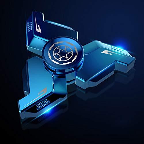 HBBOOI Spinner en Alliage de Titane Main Long Spin Time Fidget Spinner Tuer Le Temps à soulager l anxiété Anti-Stress Jouets for Adultes Enfants (Color : E)