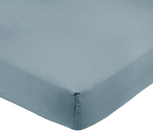 Amazon Basics FTD, Sábanas Ajustables, 150x200x30cm, Azul