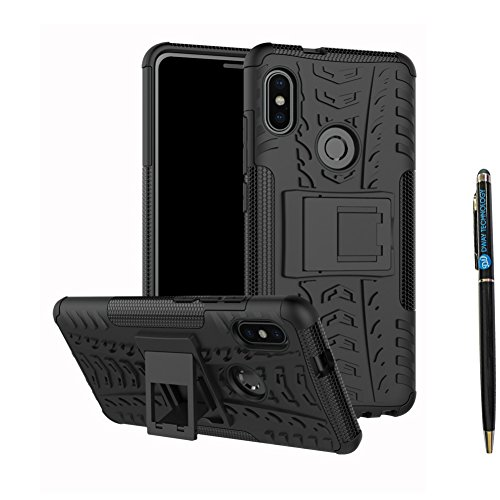 Redmi Note 5 Pro Cover Hybrid DWaybox Rugged Heavy Duty Armor Hard Back Cover Case with Kickstand...