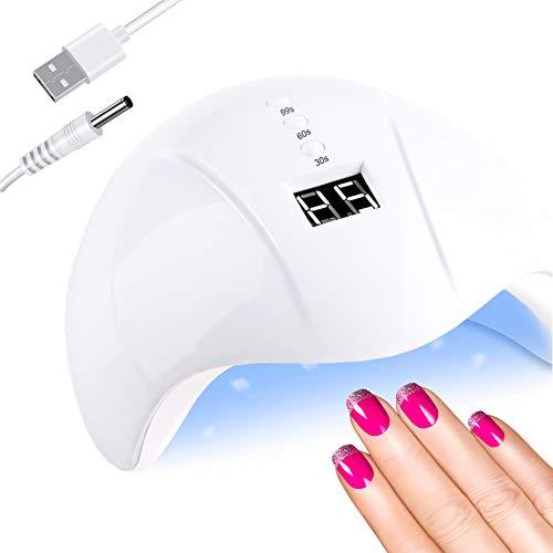 UV Nageltrockner, LED Lampe für Gelnägel, 36W Nagellampe für Gel Nagellack, Geeignet für alle Gel, Professionelle Nagellampe in Salonqualität, Auto-Sensor Nagelwerkzeuge für Fingernagel und Zehennagel