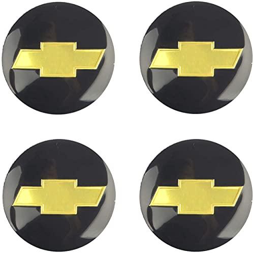 4 Piezas 65mm Coche Tapacubos para Chevrolet C4500 Camaro Chevy Cheyenne Colorado Corvette Cruze, con Emblema De Insignia Embellecedor Central De Llanta De Rueda Cubre Car-Styling Accesorios