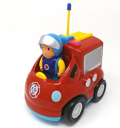 RC Auto kaufen Feuerwehr Bild 4: Brigamo Feuerwehr Ferngesteuertes Auto Feuerwehrauto mit Sirene und Herausnehmbare Feuerwehrmann Figur*