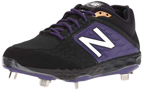 New Balance Men's 3000 V4 Metal Baseball Shoe, Black/Purple, 5 2E US