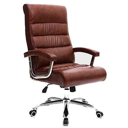 Stoelen, bureaustoel, eenvoudige computerstoel, bureaustoel, managerstoel, trendy lift, draaistoel, conferentiestoel, personaliseerstoel 46-52cm bruin