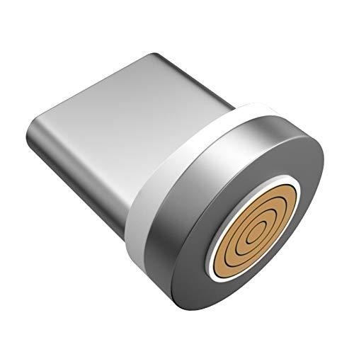 TISHITA Cable USB magnético 3 en 1, Carga rápida y Cable de sincronización de Datos, Compatible con Micro USB i-Product y Smartphones Tipo C (3 pies/6 pies) - Tipo C