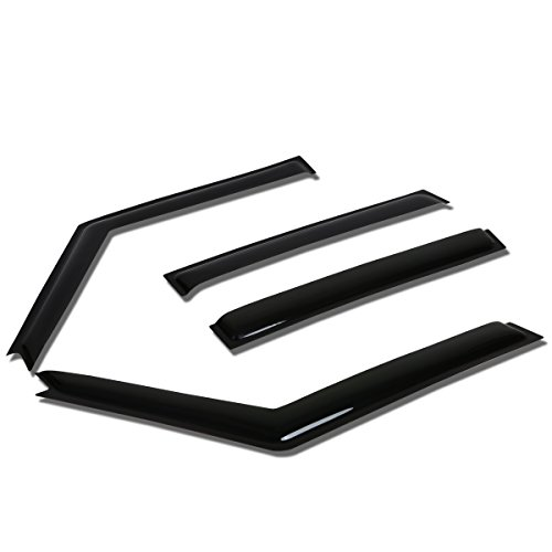 Replacement for Land Rover Discovery 2 L318 4pcs Tape-On Window Visor Deflector Rain Guard