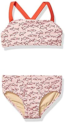 Amazon Essentials Toddler Girl's 2-Piece Bikini Set, Pink Shark, 3T